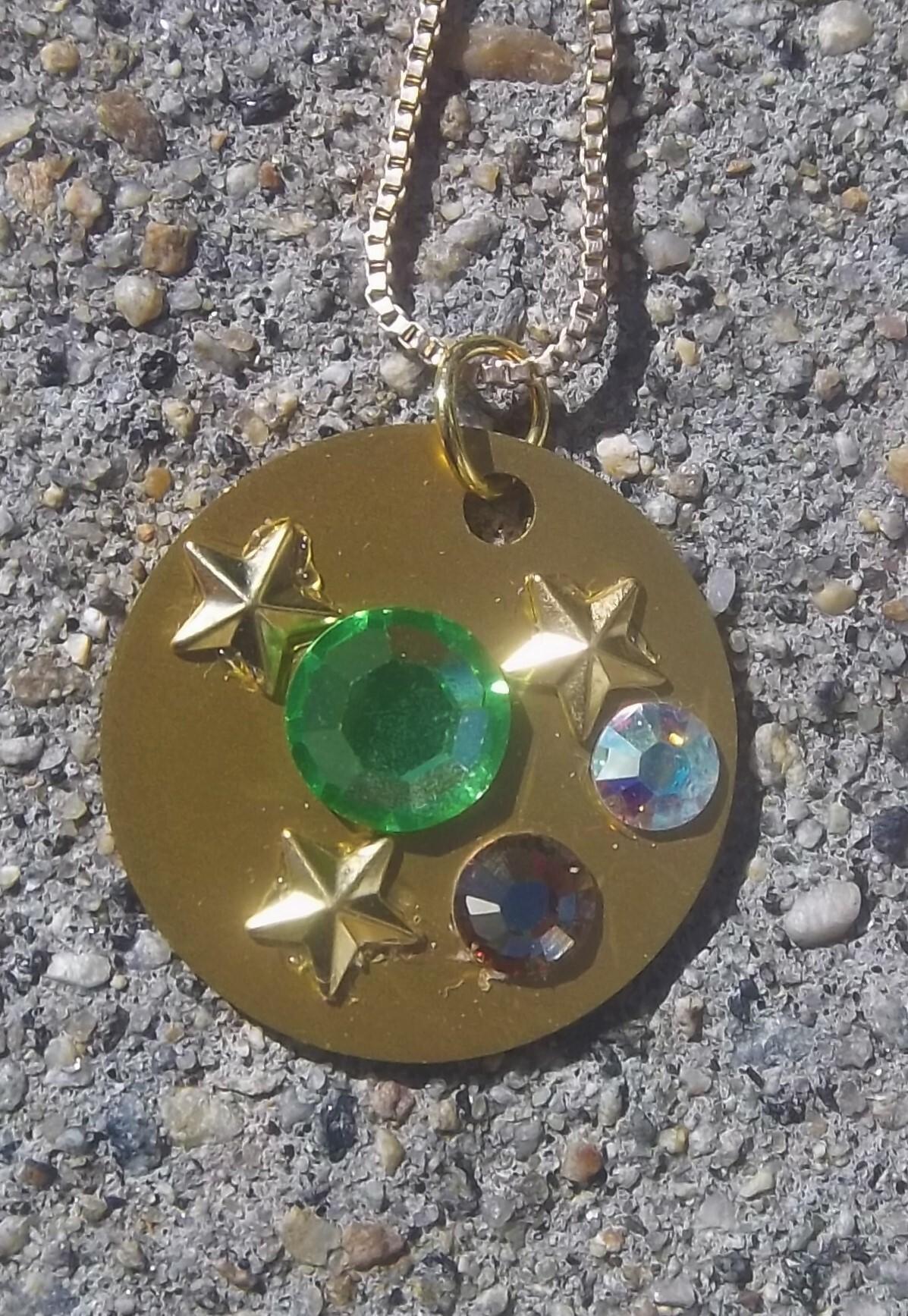 Swarovski Crystals w/ Auric Disk- Only One! 00042