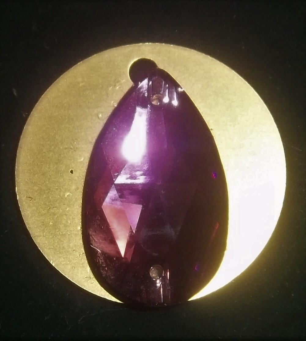 Amethyst Crystal on Auric Disk 00043