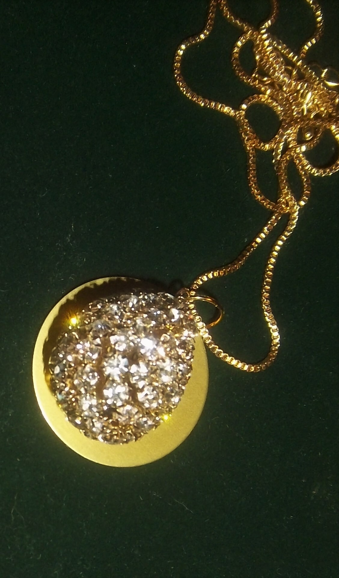 Clear Crystals w/ Auric Disk Necklace (Only one!) 00045