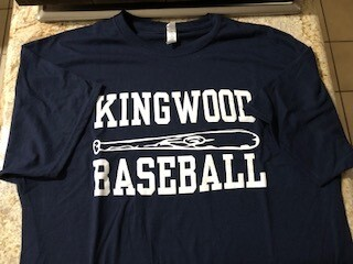 Kingwood Baseball with Bat Tee