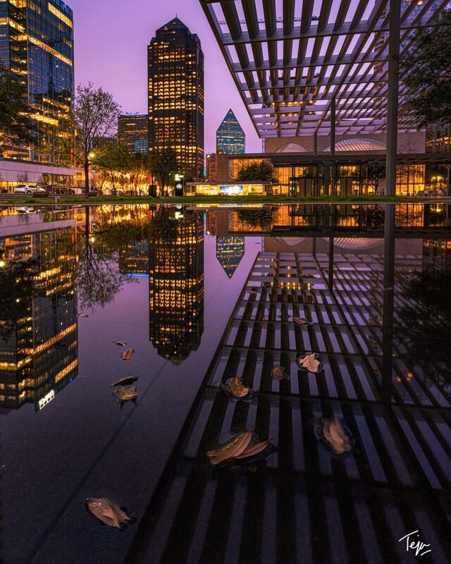 Wintry Glow, Urban Reflections