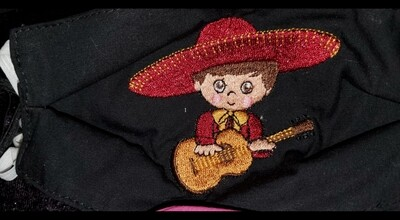 CHARRO (GUITAR BOY) Embroidered Design for Kids