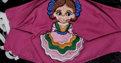 FOLKLORICO GIRL Embroidered Design for kids