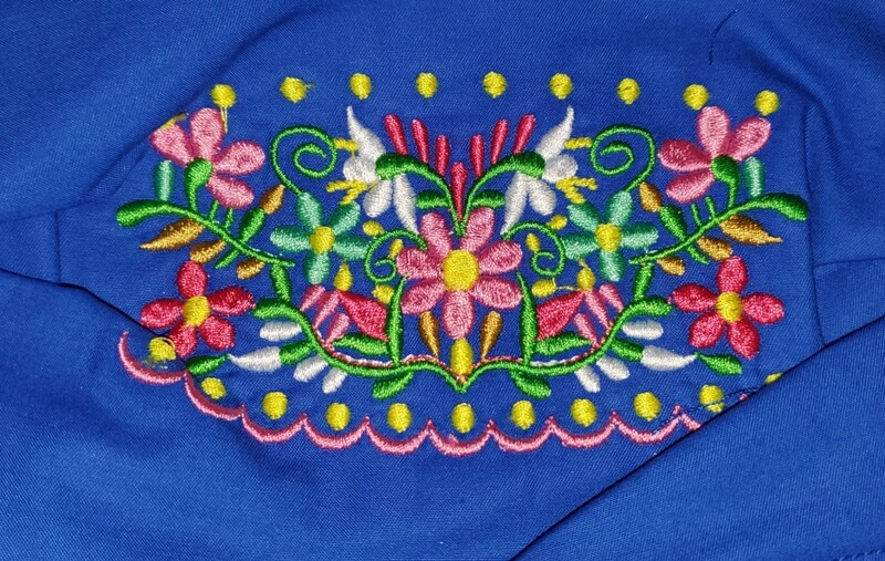 MINI CENTER FLORAL EMBROIDERED DESIGN