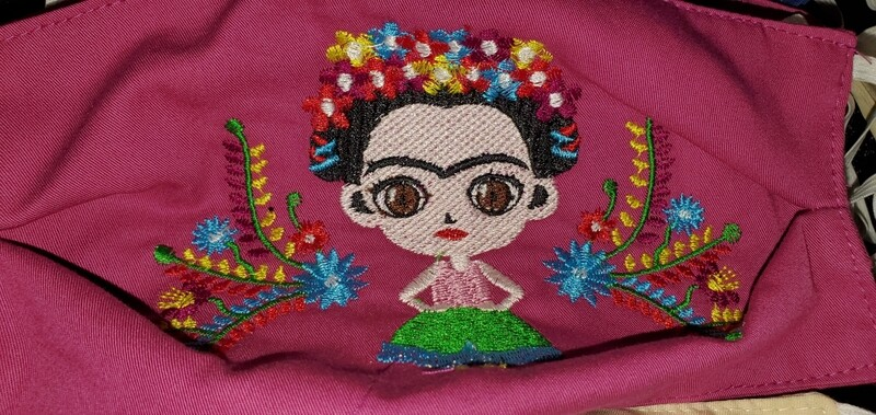 FRIDA  Embroidered Design