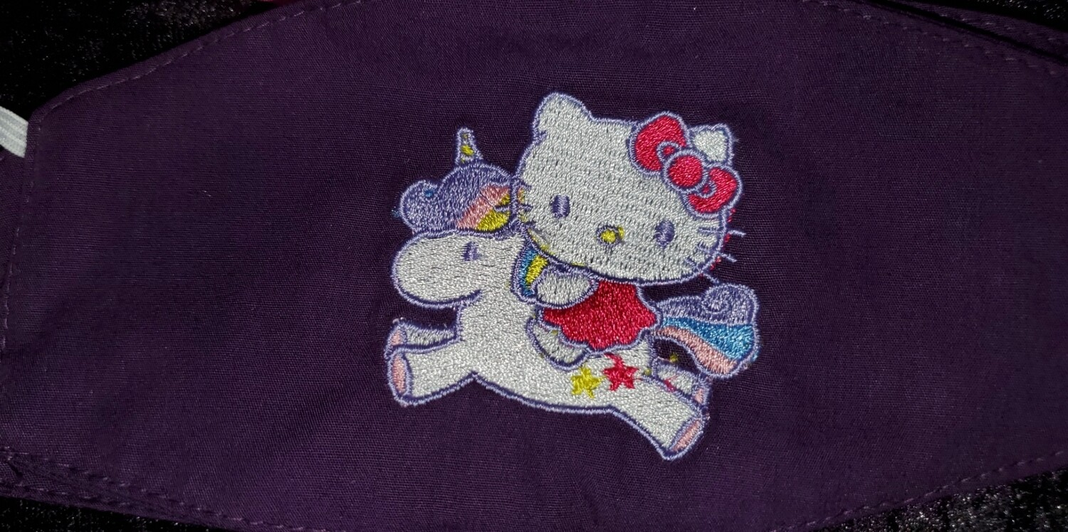 HELLO KITTY Embroidered Design for Kids