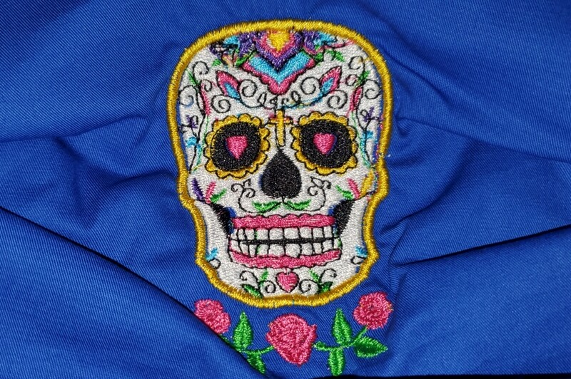 SUGAR SKULL EMBROIDERED DESIGN