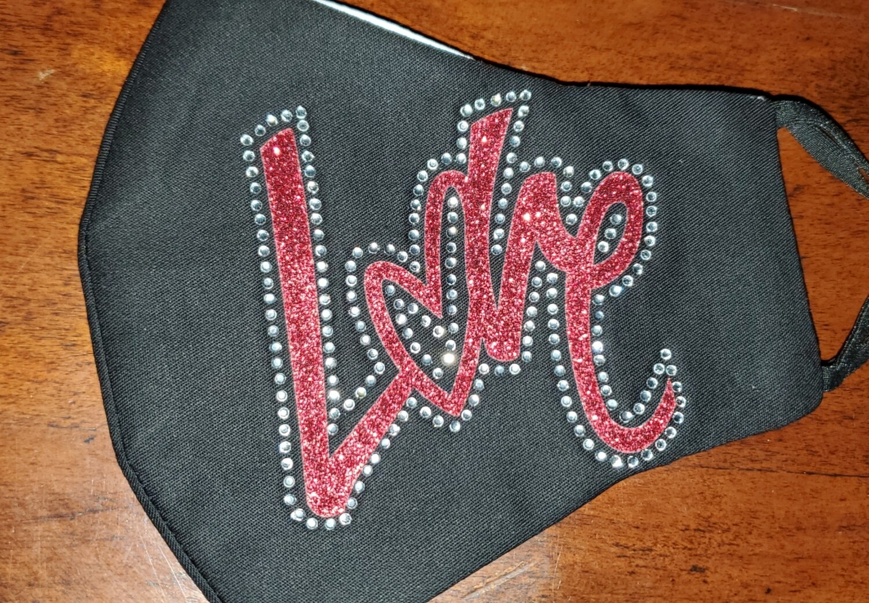 LOVE rhinestone & glitter