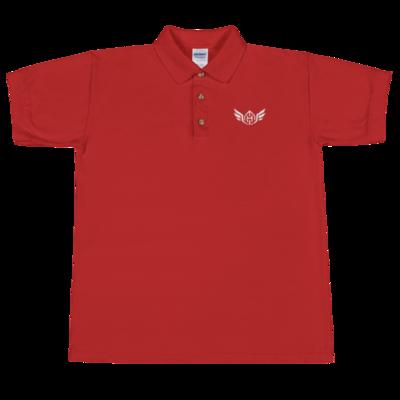 Huck Da Manager Embroidered Polo Shirt (White)