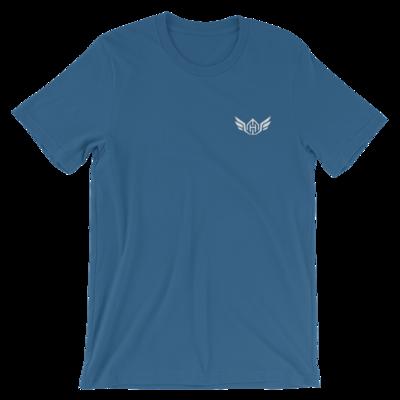 Huck Da Manager Short-Sleeve Unisex T-Shirt (Small White Logo)