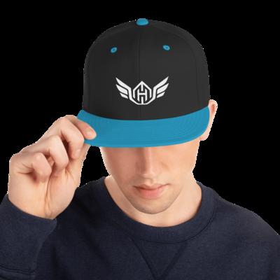 Huck Da Manager Snapback Hat (White Logo)