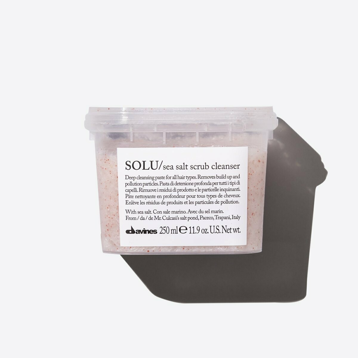 Davines SOLU Sea Salt Scrub Cleanser 250 ml