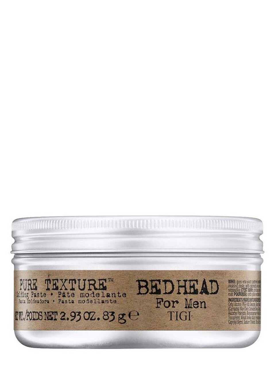 Bed Head for Men Pure Texture 83 g | Pasta Moldeadora Mate