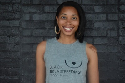 Women's Black Breastfeeding Shirt