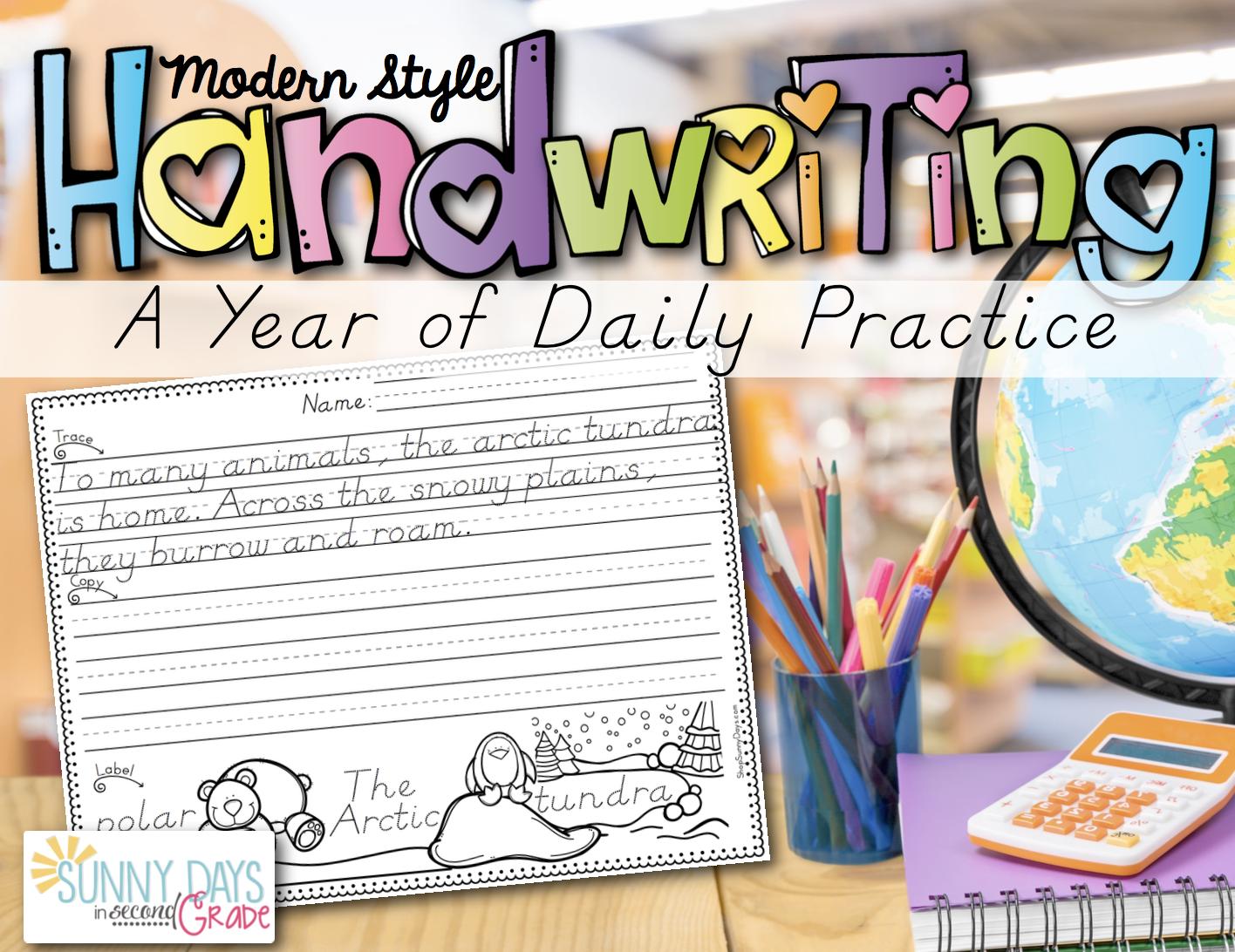 Modern Print Handwriting - A Year of Practice