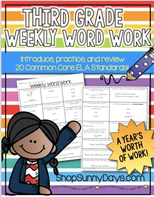 Third Grade Weekly Word Work