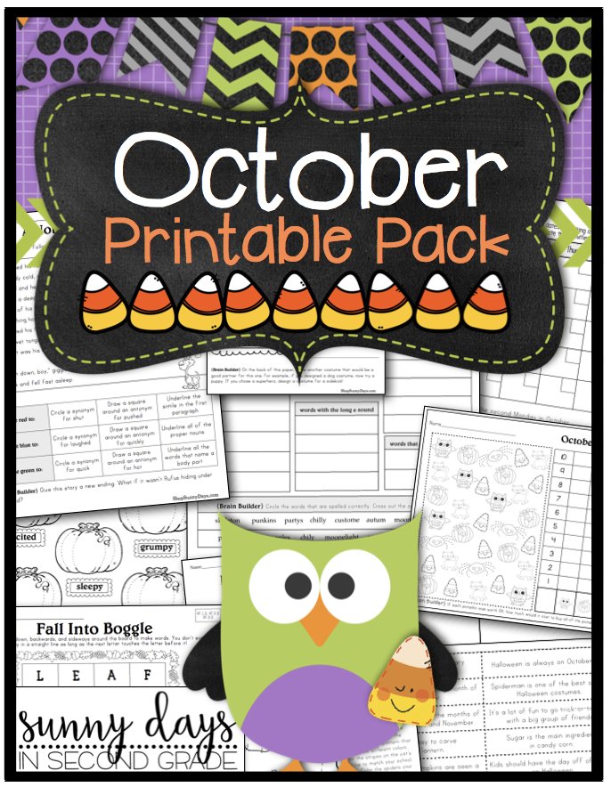 October Printables Pack