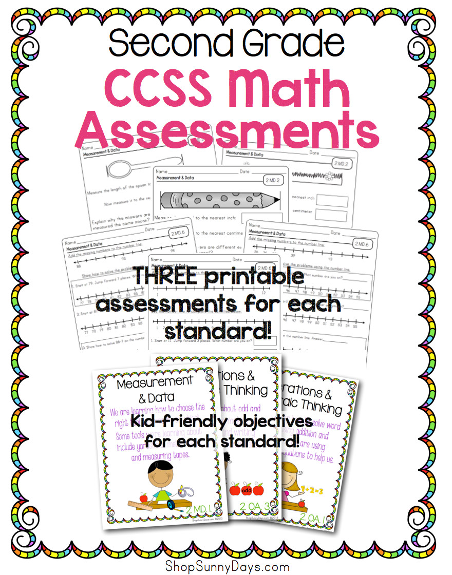 Common Core Math Assessment Pack - 2nd Grade