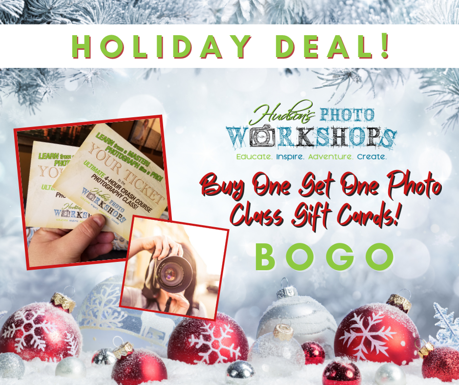 BOGO Photo Class Gift Cards - Buy One Get One Free!