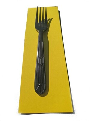 Medium Weight Black Plastic Fork