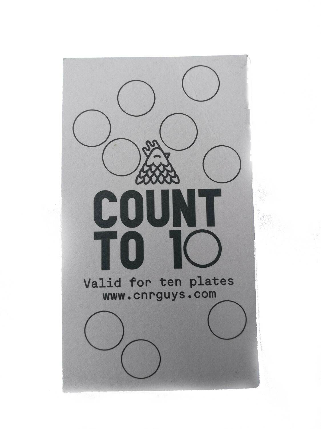 10x CNR Plate Punch Card