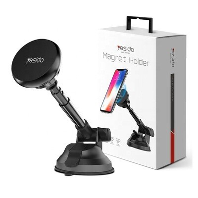 Magnetic Phone Car Mount, Universal Phone Holder for Car Dashboard, Windshield - One Hand Operation