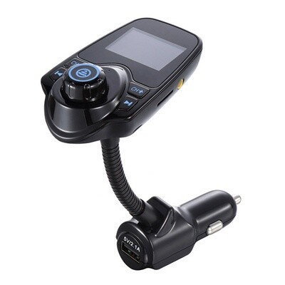 FM Bluetooth Transmitter with USB Car Charger