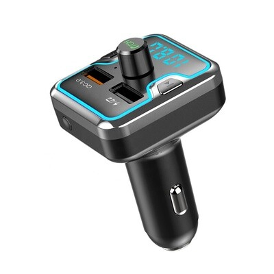 FM Bluetooth Transmitter with fast charger & led ambient
