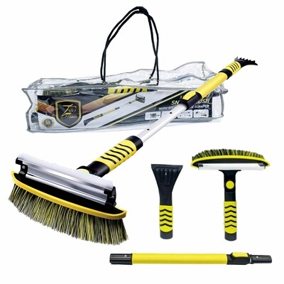 """51"""" Extendable Car Snow Brush with Detachable Ice Scraper and Ergonomic Foam Grip, for Car SUV Truck"""