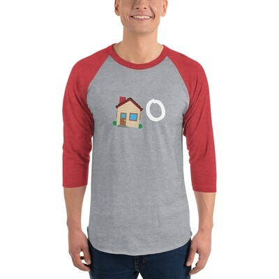 Home 3/4 sleeve raglan shirt
