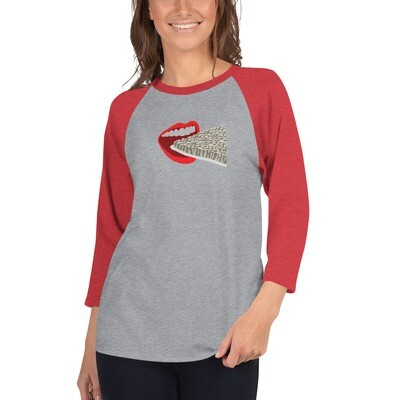 Carpet 3/4 sleeve raglan shirt