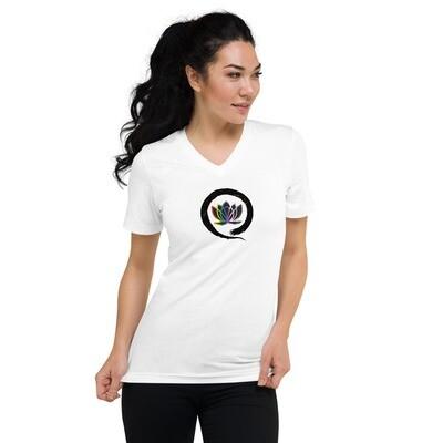 Queer Zen Unisex Short Sleeve V-Neck T-Shirt