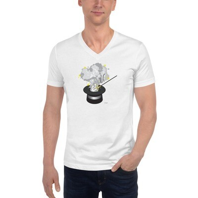 Magic Unisex Short Sleeve V-Neck T-Shirt