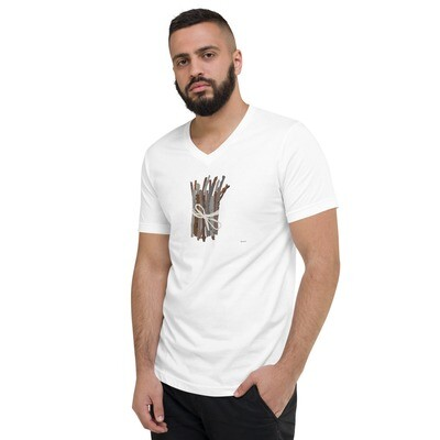 Sticks Unisex Short Sleeve V-Neck T-Shirt