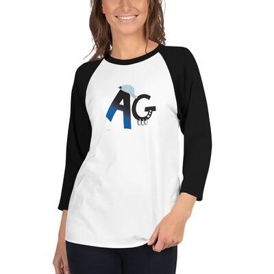 Cap 3/4 sleeve raglan shirt