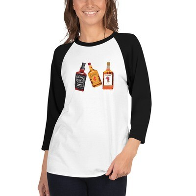 Liquor 3/4 sleeve raglan shirt