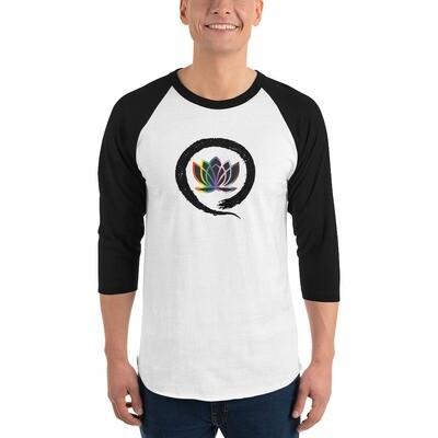 Queer Zen 3/4 sleeve raglan shirt
