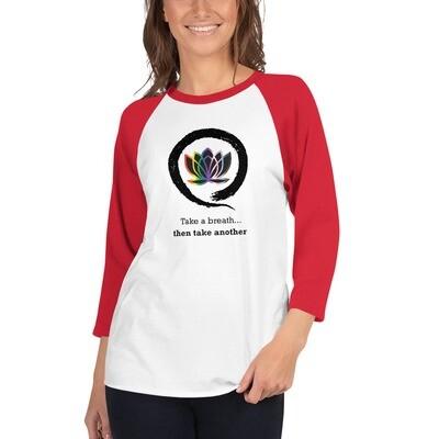 Queer Zen 2 3/4 sleeve raglan shirt