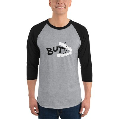 Teeth 3/4 sleeve raglan shirt
