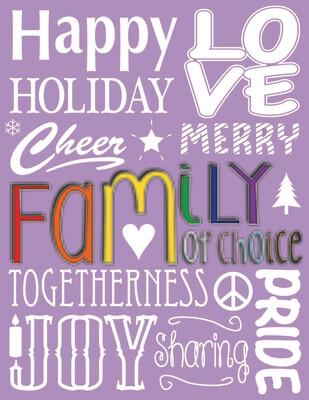 Purple Holiday Card