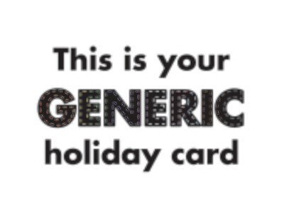 Generic Holiday Card