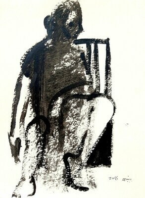 Ghylan Safadi - 'Seated man in black'