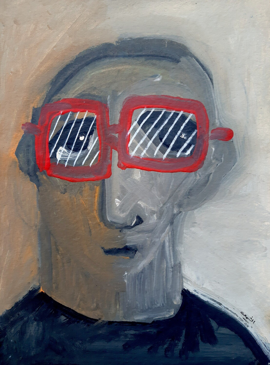 Fadi El Chamaa - 'Man in red glasses'