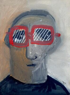 Fadi El Chamaa - 'Man in red glasses'