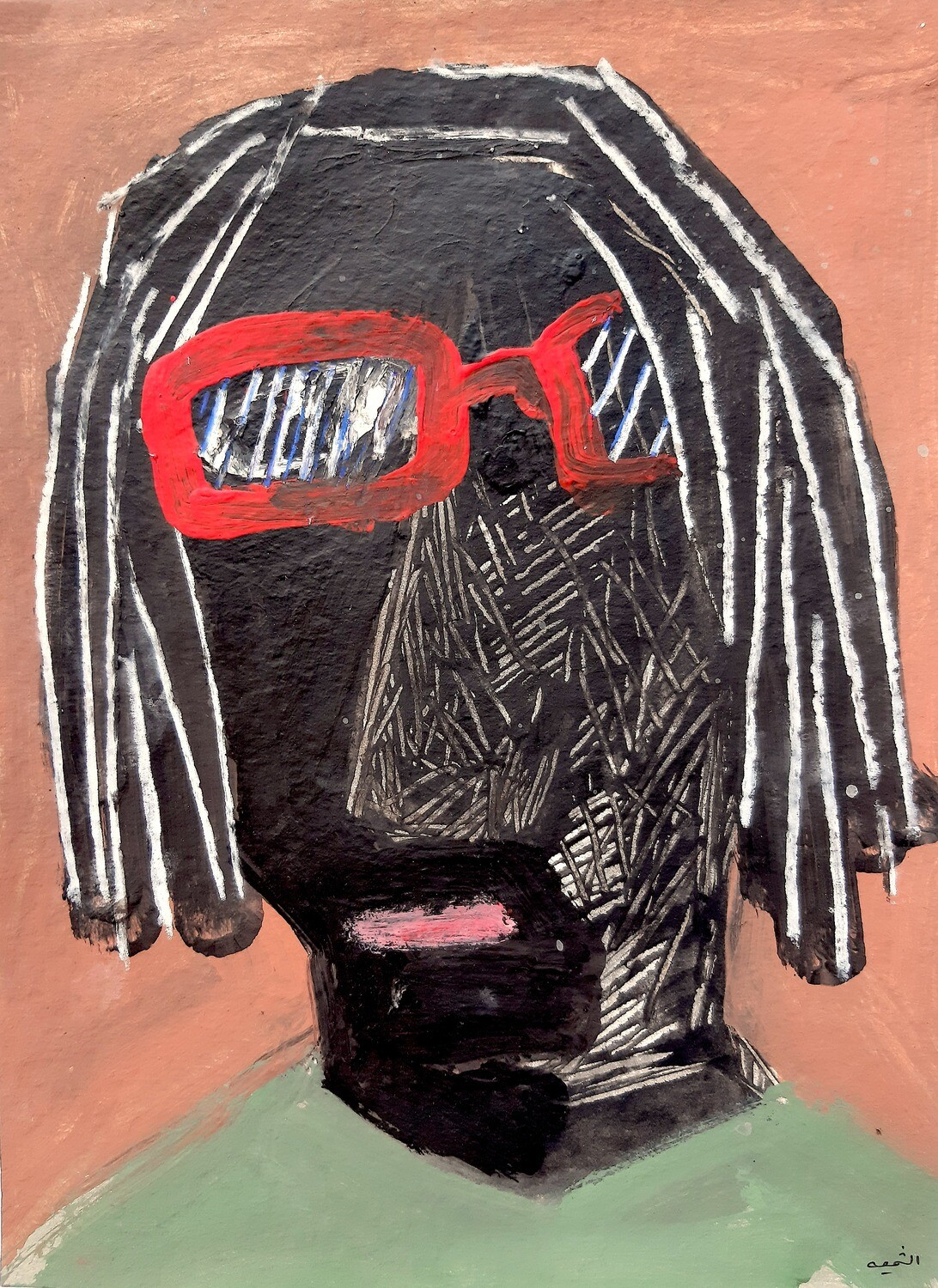 Fadi El Chamaa - 'Man in red glasses 2'
