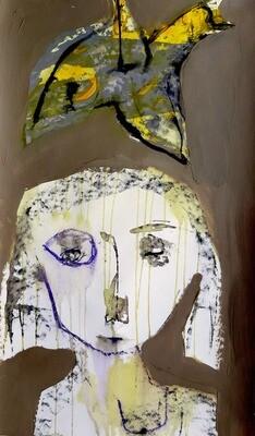 Semaan Khawam - 'Yellow bird over her'