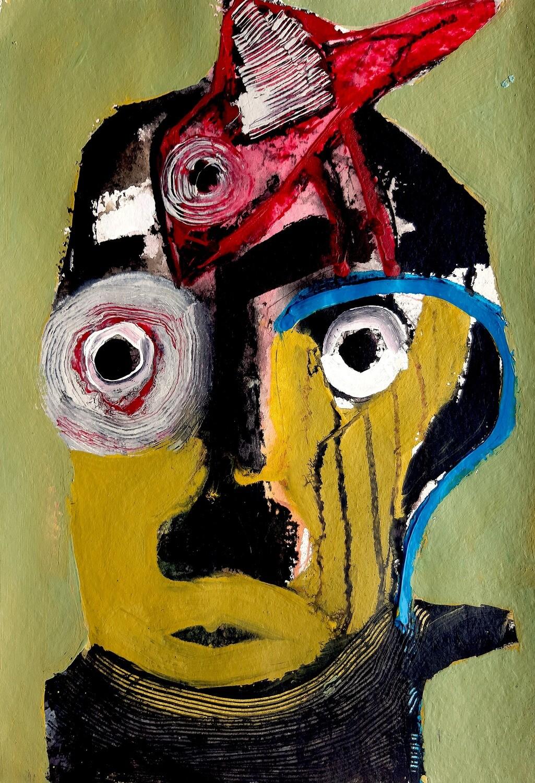 Semaan Khawam - 'Man with red bird'