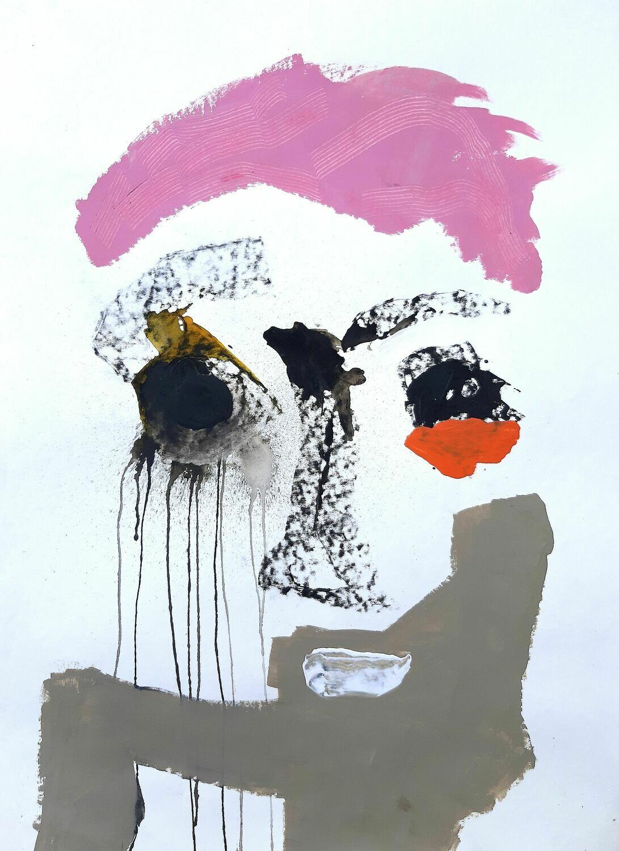 Semaan Khawam - 'Portrait in pink'