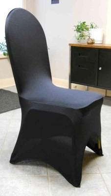 Spandex Curve Chair Cover (Black)