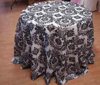 Taffeta Flocking Tablecloth (132